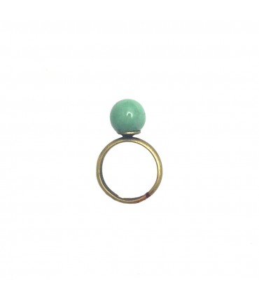 TOLEMAIDE ceramic ring small marble in green mint ceramic