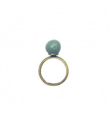 TOLEMAIDE ceramic ring small marble in green sage ceramic