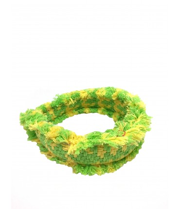 Maria La Rosa light green + yellow headband
