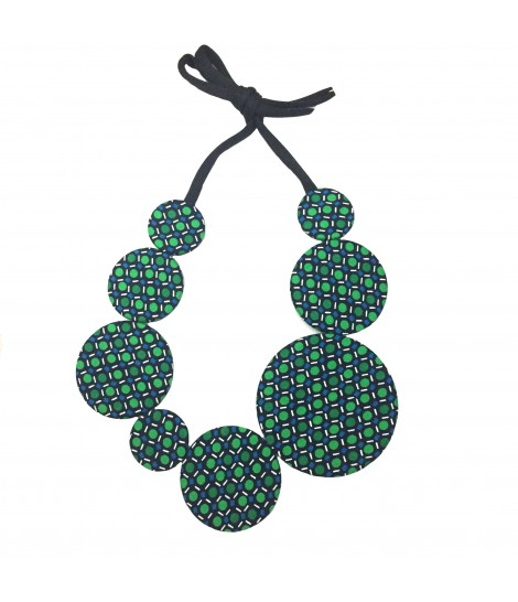 collana girocollo FLOW-ERS fantasia pois verde+ turchese