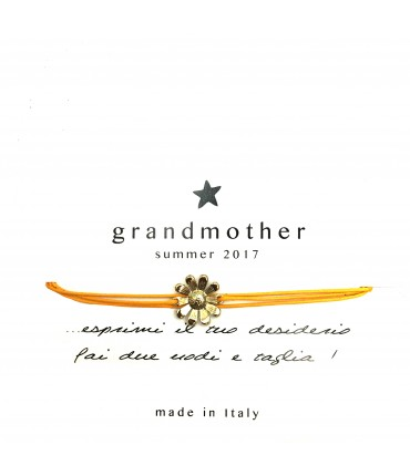 bracciale GRANDMOTHER margherita cordino giallo