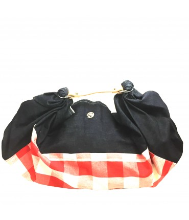 Lesardine.com bag maxi vichy pattern red + denim