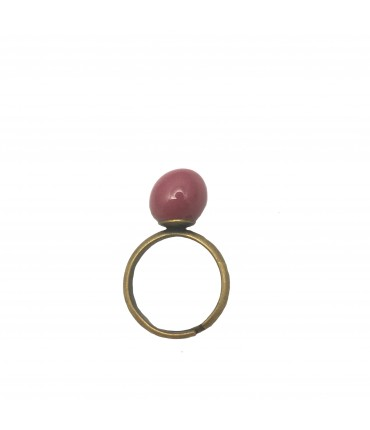 Tolemaide ring ceramic small marble in raspberry red