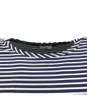 t-shirt SUD blu navy righine bianche