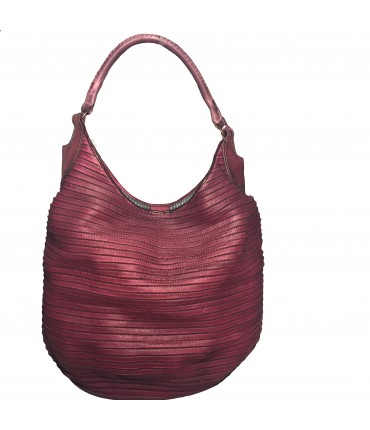 Majo big shoulder bag in blood red color