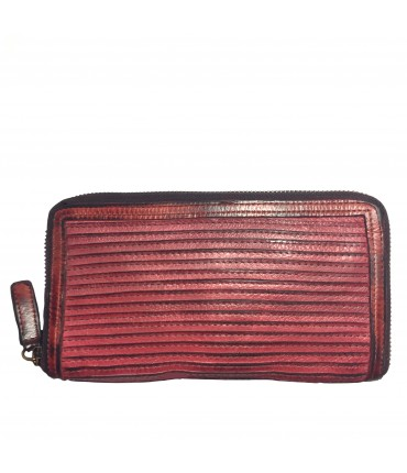 Majo wallet in red leather