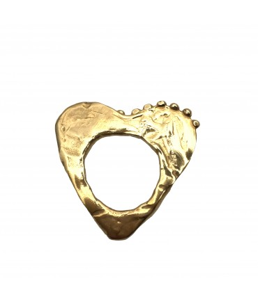 Miriam Nori flat ring shiny bronze heart