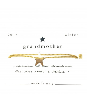bracciale GRANDMOTHER portafortuna stellina +oro