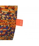 Shopping bag Sud seta cruda arancio/giallo/blu