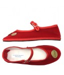 babbucce bebe' friulane velluto rosso con set spille