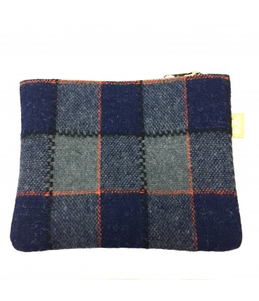 Sud sachet wool blue and gray squares