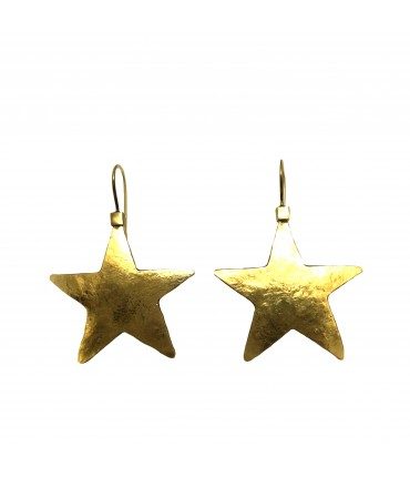 Majo polished bronze star earrings