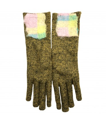 EXQUSITE J medium gloves mustard yellow mélange with scottish insert