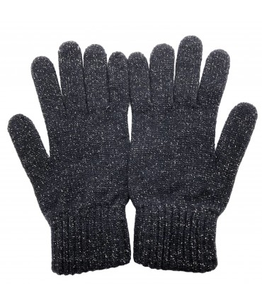 SUD dark blue gloves with lurex