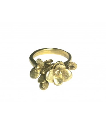 "GIULIA TAMBURINI ring ""BLOSSOM I"" shiny bronze with flowers"