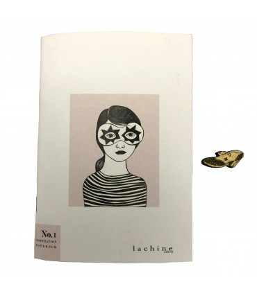 "notebook BARBARA LACHI ""inspiration notebook n.1""+ stamp of a shoe"