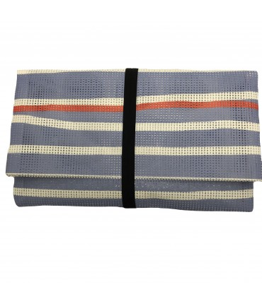 envelope clutch MADDALENA OLIVI lilac horizontal striped