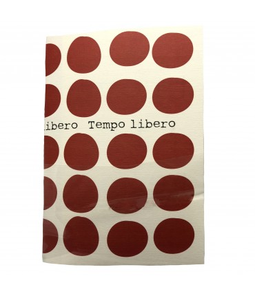 "notebook MADDALENA OLIVI ""free time"" maxi red polka dots"