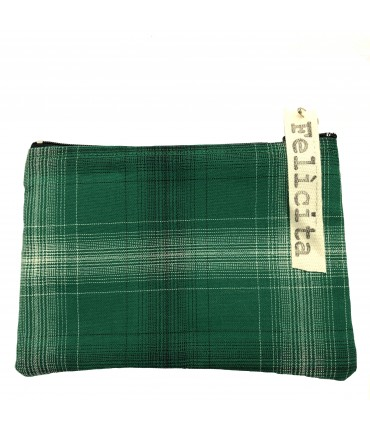 small sachet SIGNORINA FELICITA green vintage checked cotton