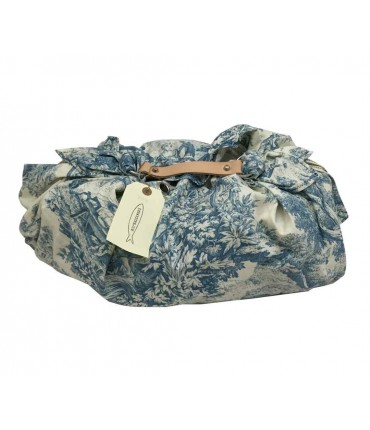 """Toile bag"" Le sardine.com light blue and white bag"