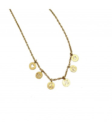 "chocker necklace Giulia Tamburini polished bronze ""mare"""