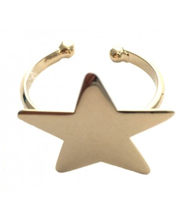 Grandmother star ring golden metal one size