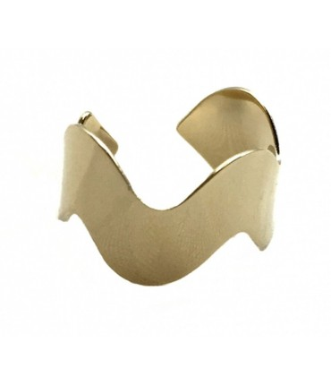 Grandmother ring simple wave polished brass