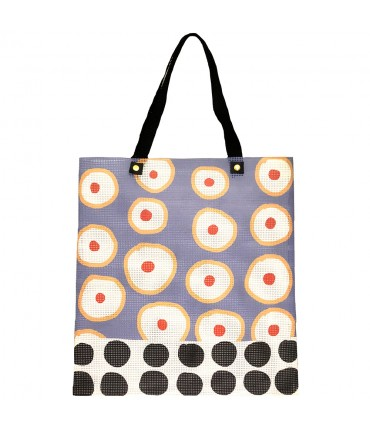shopping bag MADDALENA OLIVI polka dots and lavender