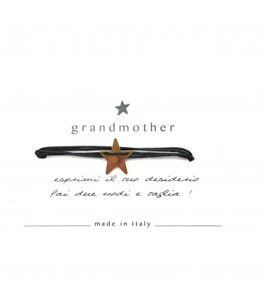 bracciale GRANDMOTHER portafortuna stellina nero
