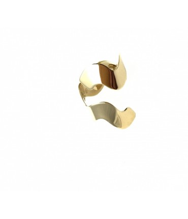 Grandmother ring double wave polished brass