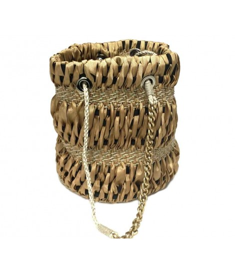 Maria La Rosa godet naturel bucket bag