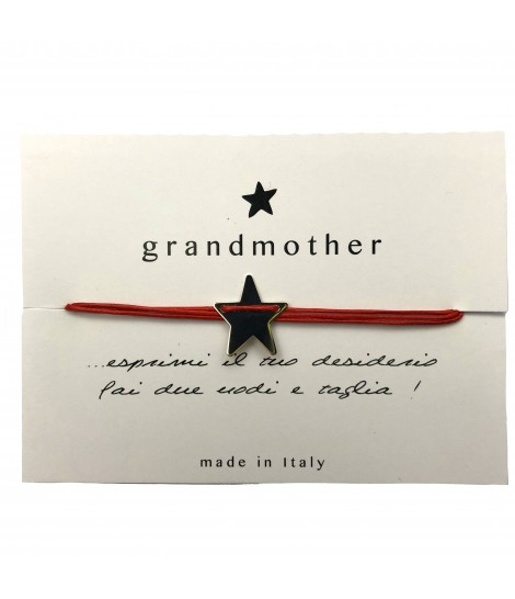 bracciale GRANDMOTHER portafortuna stellina rosso