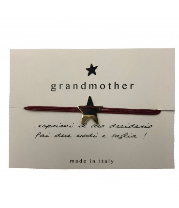 bracciale GRANDMOTHER portafortuna rosso ciliegia