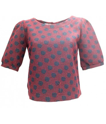 Art'desìa Blouse blue/red polka dots