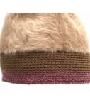 EXQUISITE J hat camel mohair with contrasting border