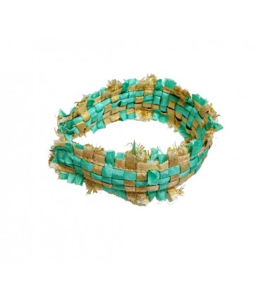 Maria La Rosa hairband gold/aqua green