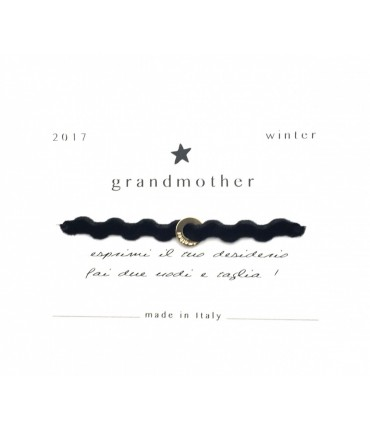 Bracciale Grandmother portafortuna onda velluto nero