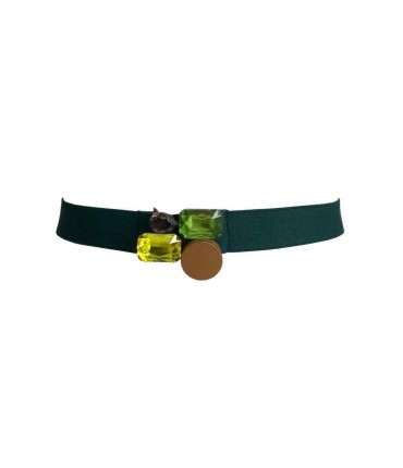 Exquisite j belt emerald buckle stones