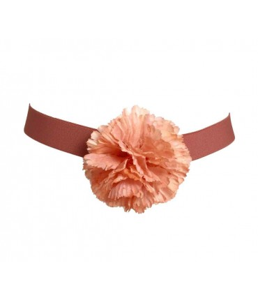 Exquisite j belt with silk flower dyed by hand pink