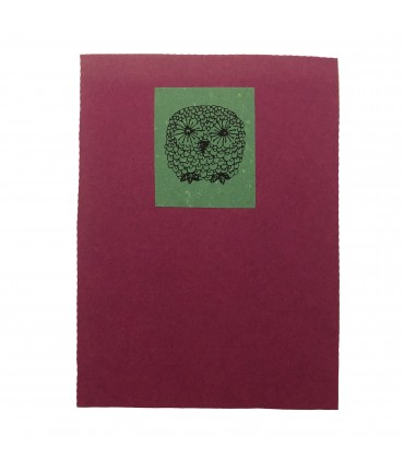 block notes FELICE BOTTA fucsia con civetta