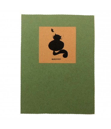 block notes FELICE BOTTA verde con gatto