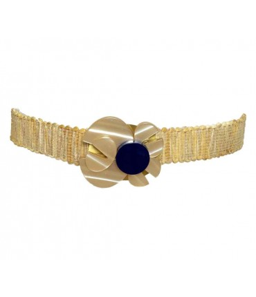 Exquisite j belt with rhodoid+ rope with blue detail