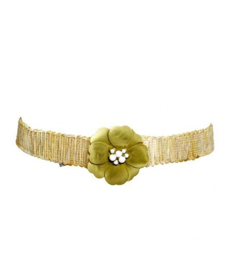 Exquisite j belt flower+pistil, rhinestone+rope