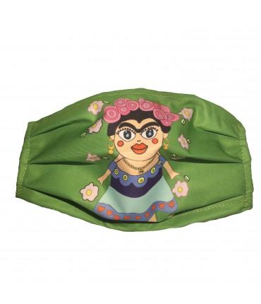 """mascherina LO ZOO DI SIMONA filtrante in tessuto tecnico impermeabile/traspirante """"ciccia Frida"""""""