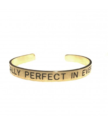 "bracciale VIOLA PISENTI inciso a mano ""pratically perfect in every way"""