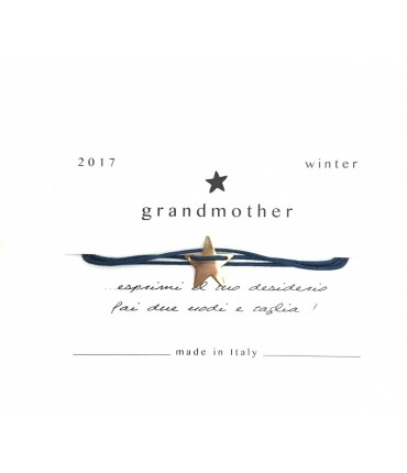 Bracciale Grandmother portafortuna stellina blu navy