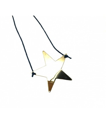 Grandmother golden star necklace + navy blue lanyard