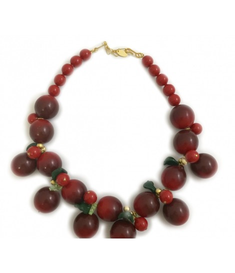 Ornella bijoux choker with cherries