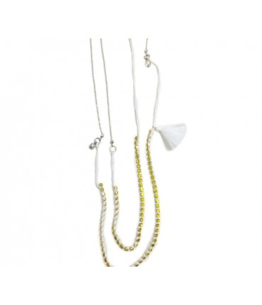Forte-forte double necklace with lemon crystals