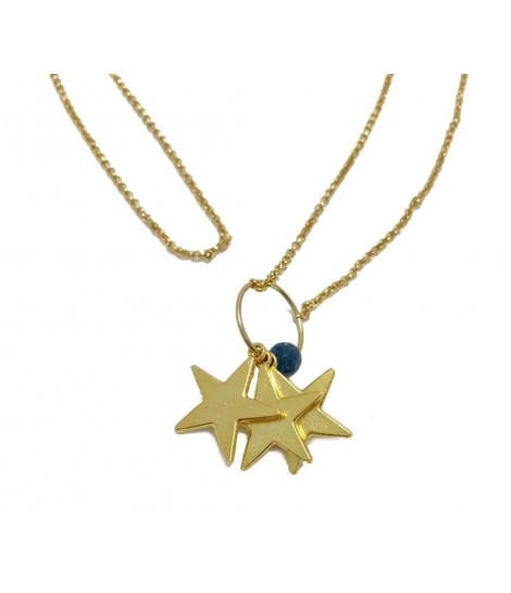 Handmade Les jeux des dames necklace with three starlets